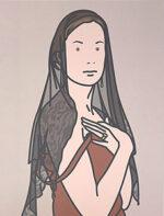 ジュリアン・オピー「Anya with veil. 2005」オフセット
