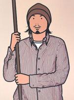 ジュリアン・オピー「Hirofumi with staff. 2005」オフセット