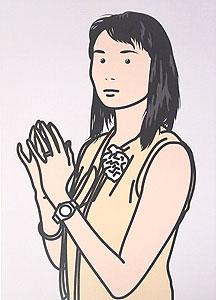 ジュリアン・オピー「Hijiri with hands together. 2005」オフセット