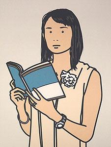 ジュリアン・オピー「Hijiri with book. 2005」オフセット