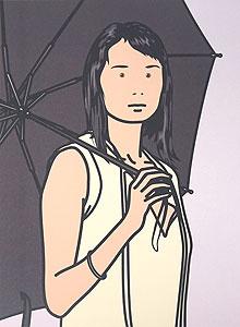 ジュリアン・オピー「Hijiri with umbrella. 2005」オフセット