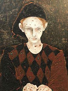 舟山一男「サーカスの少年」油彩 1993年