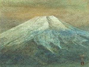 松本哲男「富士」日本画 10号