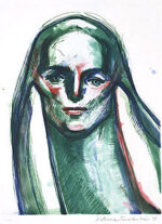 舟越桂「緑のスフィンクス」銅版画 2008年