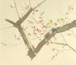 竹内栖鳳「梅園禽語」版画 1990年