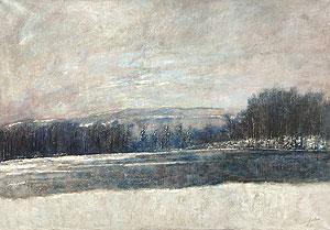 ベルナール・ガントナー「氷の池」油彩 1969年