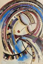 マーティロ・マヌキアン「リリカルブーケ」版画 103.5×68.8cm