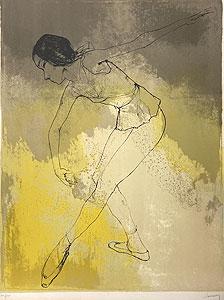 ジャン・ジャンセン「敬虔」版画 1970年