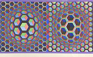 ヴィクトル・ヴァザルリ「SEMIHA」版画 1979年