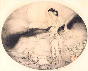 ルイ・イカール「椿姫」銅版画 1927年