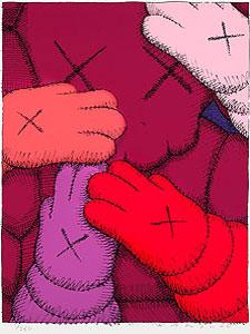 KAWS(カウズ)「URGE:#2 Magenta」版画 2020年