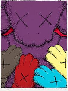 KAWS(カウズ)「URGE:#8 Purple」版画 2020年
