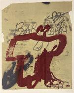アントニ・タピエス「A.L.タピエス バルセロナ」版画 1986年