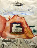 サルバドール・ダリ「哲学者のるつぼ:哲学者の錬金術」版画 1976年