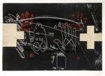 アントニ・タピエス「手と十字」銅版画 1975年