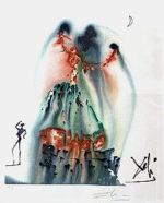 サルバドール・ダリ「ハバネラ:カルメンより」版画 1970年