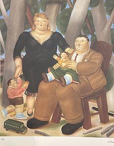 フェルナンド・ボテロ「Family:Botero」版画 1983年