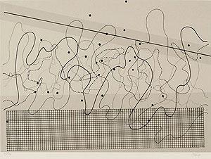 ジョン・ケージ「Fontana Mix(Light Grey)」版画 1982年