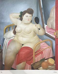 フェルナンド・ボテロ「Mirror and Nude:Botero」版画 1983年