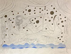 サルバドール・ダリ「浴室の裸婦:Nu au bain」銅版画 1973年