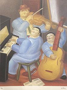 フェルナンド・ボテロ「Three Musicians:Botero」版画 1983年