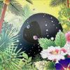 青島千穂「Building Head Palm Trees」オフセット版画 2006年