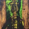 ルフィーノ・タマヨ「Hombre en fondo verde」版画 1980年