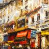 山本彪一「パリの裏通り」油彩4号