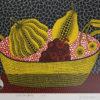 草間彌生「かぼちゃと果物」シルクスクリーン24.2×33.2cm
