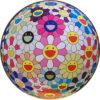 村上隆「フラワーボール ピンク」オフセット版画直径71cm