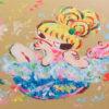 ロッカクアヤコ「早生まれ行進曲(3)」版画44.5×59.5cm