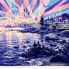 笹倉鉄平「マジック・アワー」版画58×83.5cm