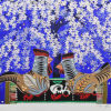 中島千波「はるらんまん」版画25.7×33.3cm
