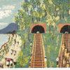 山下清「トンネルのある風景」版画リトグラフ44×61cm