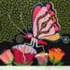 草間彌生「花園」版画45.3×52.5cm
