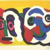 カレル・アペル「2つの顔」版画51×66.5cm