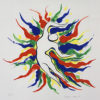 岡本太郎「愛と平和」版画42.5×42.7cm