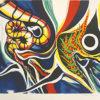 岡本太郎「虫と子供」版画38.5×47cm