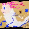 ロッカクアヤコ「a ghost」ガッシュ22.8×20cm