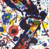サム・フランシス「天空の詩 Pl.2」版画79.5×55.9cm