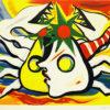 岡本太郎「海辺」版画50×64.5cm