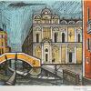 ベルナール・ビュッフェ「スコーラ・サン・マルコ」版画